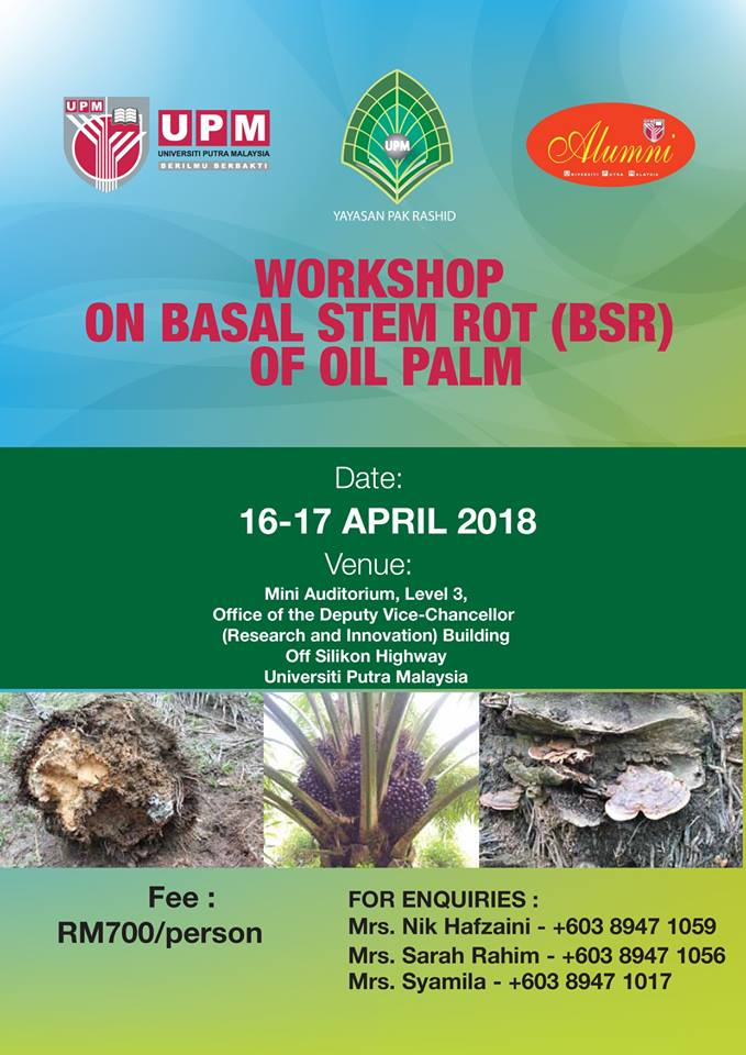 Workshop on Basal Stem Rot of Oil Palm
